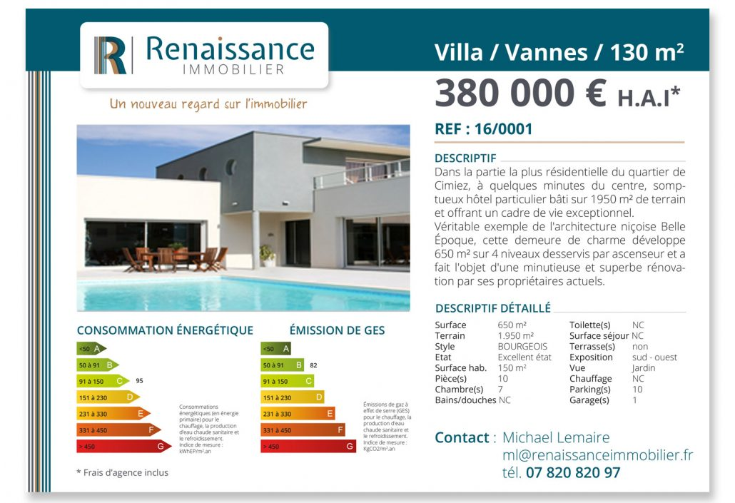 Logo cartes site renaissance immobilier vertmer for Annonce immobiliere appartement