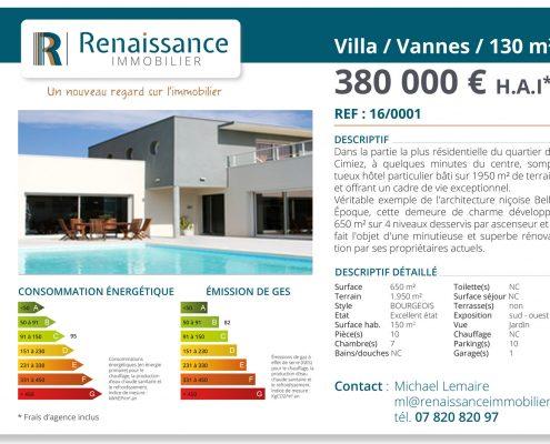 Annonce vitrine -renaissance immobilier