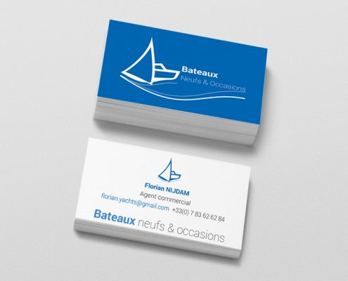 Cartes de visite agent commercial nautisme