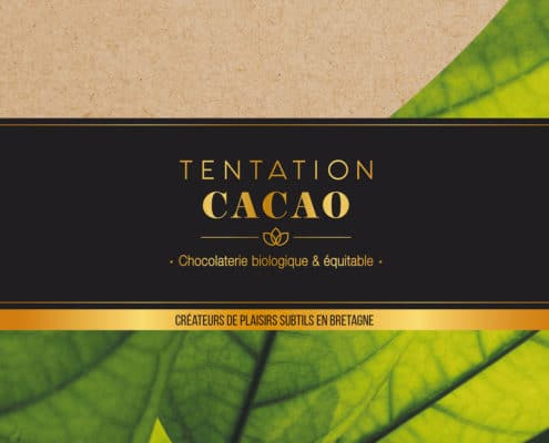 Identité visuelle chocolaterie Tentation Cacao