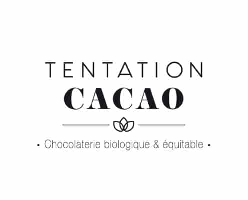 Logo chocolatier artisanal biologique