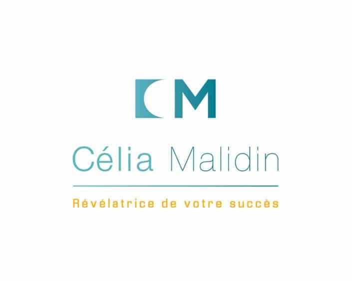 Conception de l'identité visuelle de Celia Malidin, commerciale externalisée
