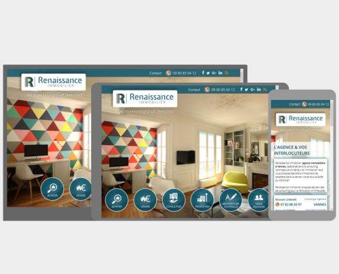 webdesign site web responsive - renaissance immobilier