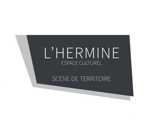 Identité visuelle typographique l'Hermine