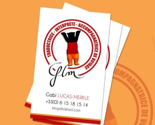 cartes de visite GLM traductrice allemande