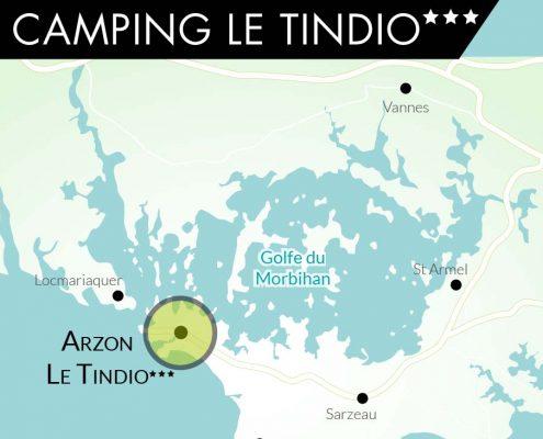 Camping Le Tindio Arzon Cartographie