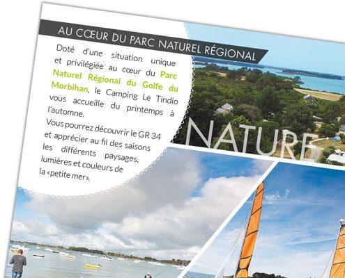 Camping Le Tindio plaquette commerciale, nature