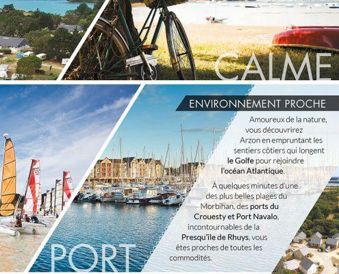 Camping Le Tindio plaquette commerciale, calme, ports