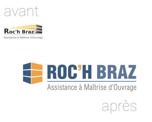 Roc'h Braz   Relooking logo   Avant Après