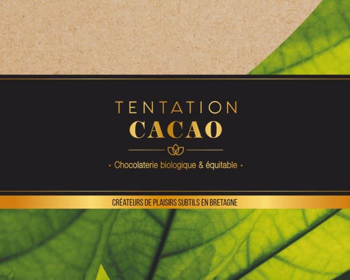 Identité visuelle chocolaterie Tentation Cacao
