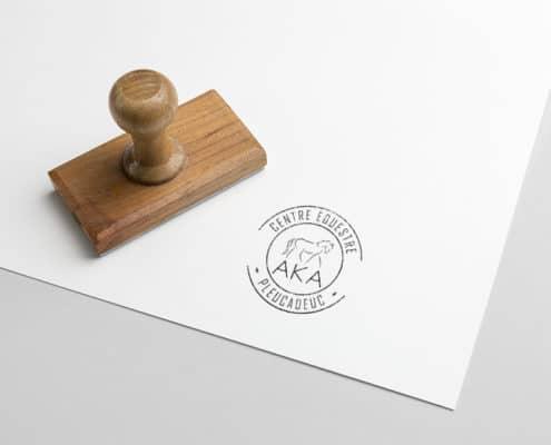 le logotype en monochrome pour une utilisation avec un tampon encreur