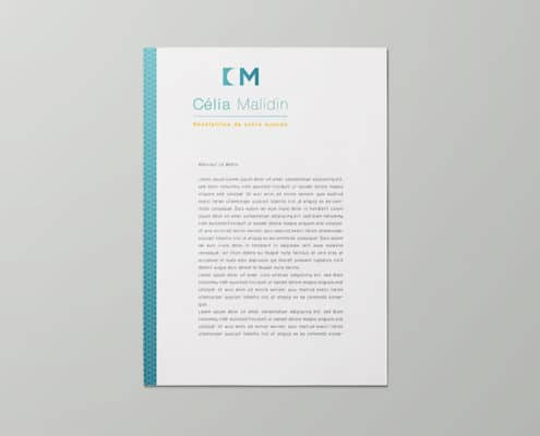 Tête de lettre pour activité indépendante commerciale