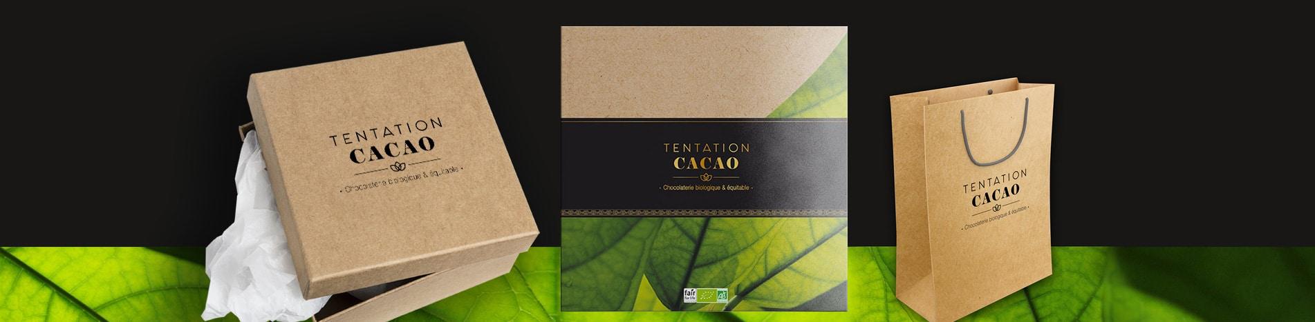 Identité visuelle de tentation cacao chocolatier