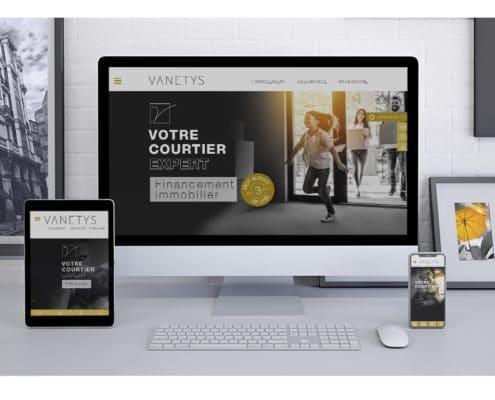 Création webdesign site Vanetys